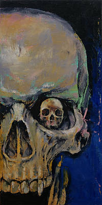 Vampires Painting - Vampire Skull by Michael Creese