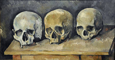 Painting - Skulls by Paul  Cezanne