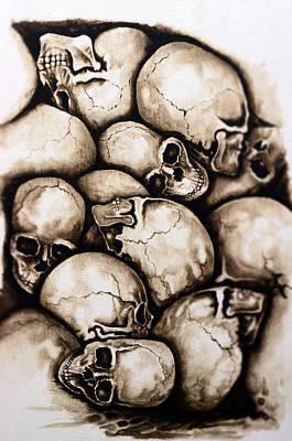 Olympic Sports - Skulls sepia by Jakub DK