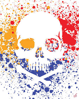 Skullz  Art Print by Decorative Arts