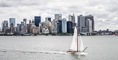 U2 Photograph - Skutsje On The Hudson by Alex Hiemstra