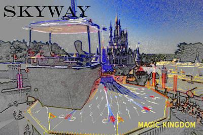 Dismantled Painting - Skway Magic Kingdom by David Lee Thompson