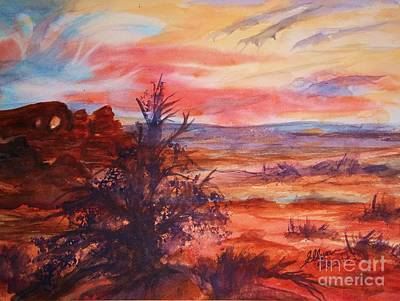 Painting - Sunset Over Turret Arch by Ellen Levinson