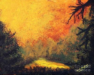 Painting - Sky Ablaze by Vicki Maheu