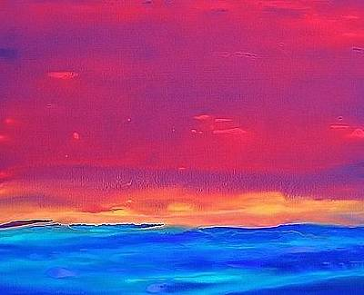 Painting - Sky And Sea 2007 by Karl Leonhardtsberger