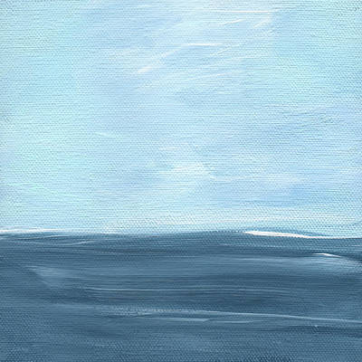 Navy Painting - Sky And Sea by Linda Woods