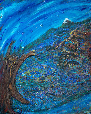 Painting - Sky Blue Field by Karen  Renee
