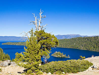 Sky Blue Water - Emerald Bay - Lake Tahoe Art Print