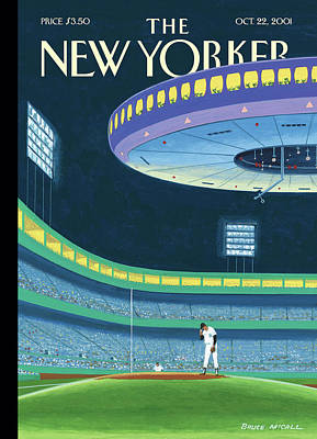 Yankee Stadium Painting - Sky Box by Bruce McCall