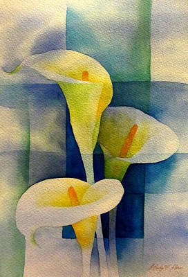 Calla Lily Wall Art - Painting - Sky Breeze by Hailey E Herrera