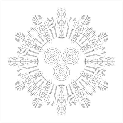 Mayan Digital Art - Sky Chief by DB Artist