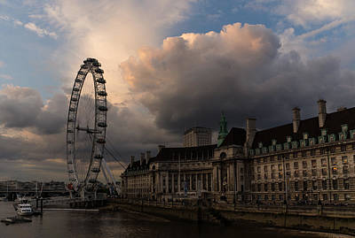 Photograph - Sky Drama Around The London Eye by Georgia Mizuleva