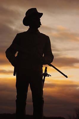 Sky Fire - 2nd Pennsylvania Cavalry Regiment Cemetery Ridge Near Meades Hq Dawn Gettysburg Art Print