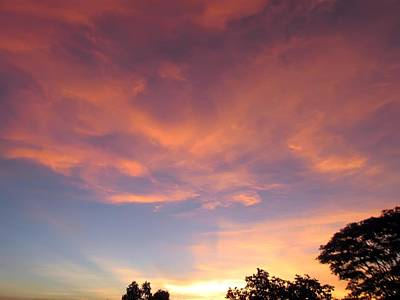 Photograph - Sky Fire by Daniel Chowdhury