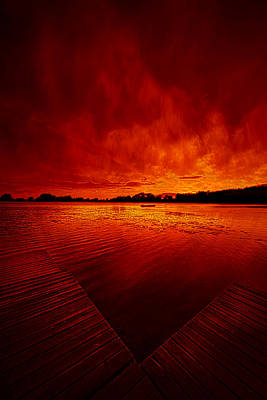 Sky Fire Print by Phil Koch