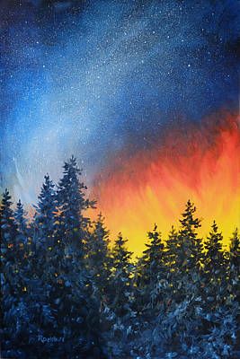 Painting - Sky Fire by Richard De Wolfe