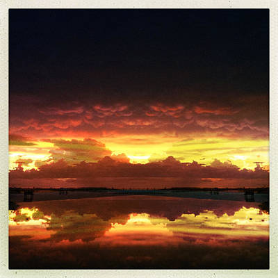 Photograph - Sky Fire Siesta Key by Alison Maddex