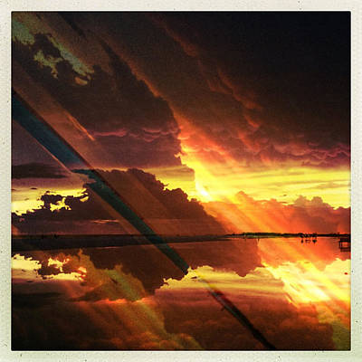 Photograph - Sky Fire Siesta Key II by Alison Maddex