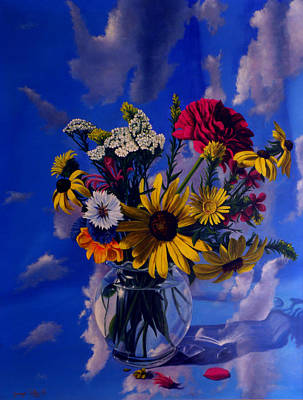 Painting - Sky Flowers by George Tuffy