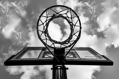 Sky Hoop Basketball Time Art Print