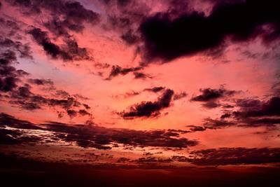 Sky In Fire. Art Print