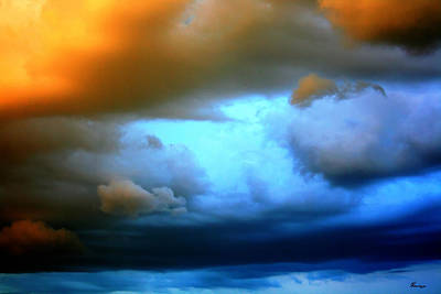 Sky In Peril Art Print by Andrea Lawrence