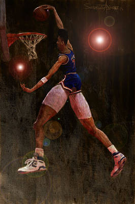 Basketball Abstract Painting - Sky by Jumaane Sorrells-Adewale