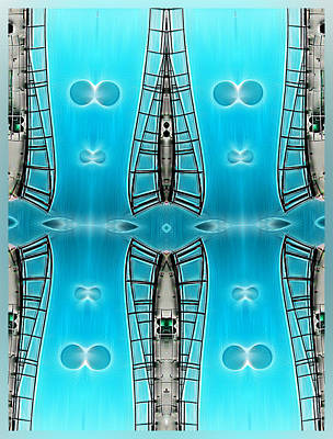 Digital Art - Sky Ladders by Wendy J St Christopher