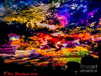 Sky Log Jam Art Print by Ron Fleishman