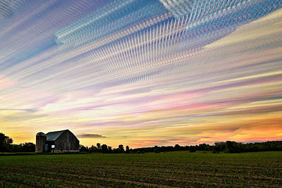 Sky Matrix Art Print by Matt Molloy