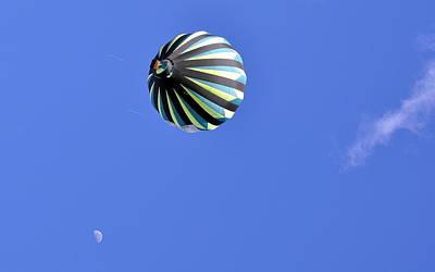 Photograph - Sky Moon And Balloon by AJ  Schibig
