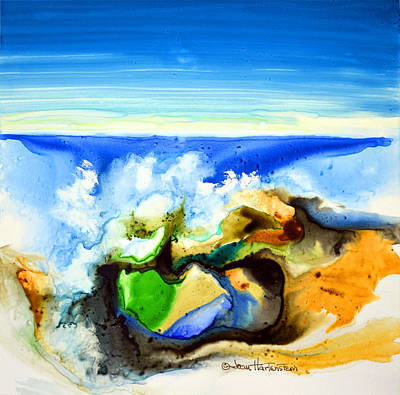 Painting - Sky Ocean Rocks by Joan Hartenstein