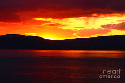 Irish Seascape Photograph - Sky Of Fire by Aidan Moran