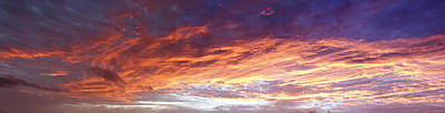 Heavens Photograph - Sky On Fire by Les Cunliffe