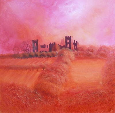 Roaring Red - Sky Over Riber Castle by Mandy-Jayne Ahlfors
