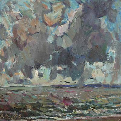 Painting - Sky Over Sea by Juliya Zhukova