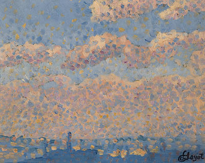 Dot Painting - Sky Over The City by Louis Hayet