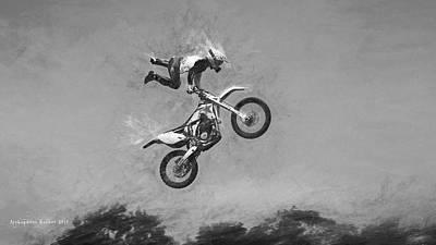 Photograph - Sky Rider Through The Air by Aleksander Rotner