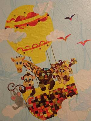 Art Print featuring the mixed media Sky Riders by Diane Miller