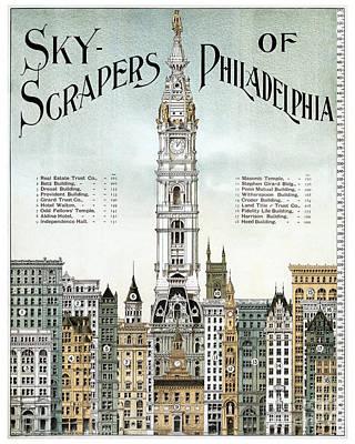 Philadelphia History Painting - Sky-scrapers Of Philadelphia - 1898 by Pablo Romero
