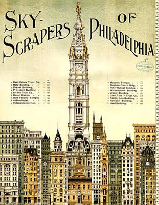 Sky Scrapers Of Philadelphia 1896 Art Print