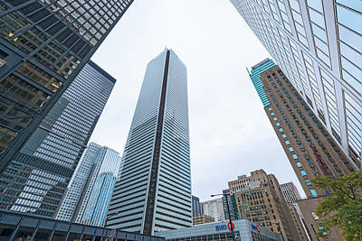 Photograph - Sky Scrapers On Bay Street In Toronto's Financial District. by Marek Poplawski