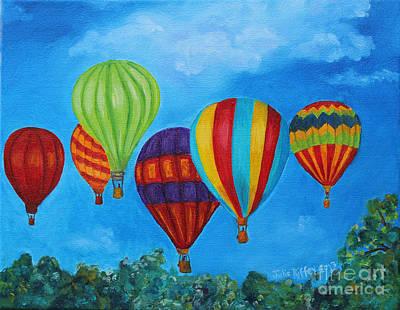 Soaring Painting - Sky Skittles by Julie Brugh Riffey