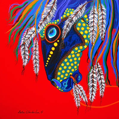 Art Print featuring the painting Sky Spirit by Debbie Chamberlin