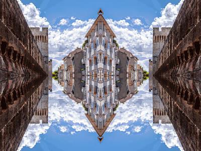 Mirror Digital Art - Sky Street by Yevgeni Kacnelson