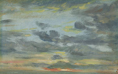 Sunset Drawing - Sky Study, Sunset, 1821-22 by John Constable