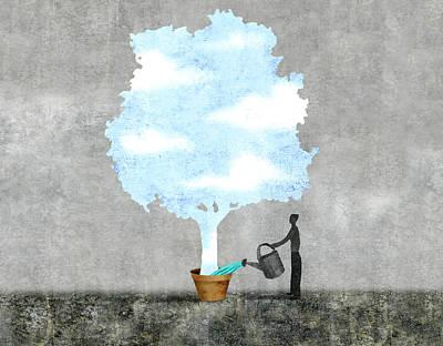 Planters Digital Art - Sky Tree by Steve Dininno