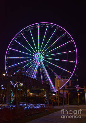 Photograph - Sky Wheel New Years Eve 2013 by Kathy Baccari