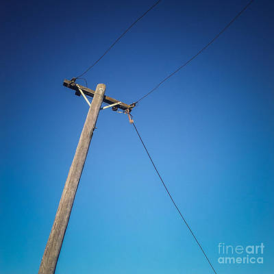 Telephone Poles Photograph - Sky Wire by Colin and Linda McKie