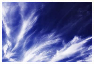 Photograph - Sky Wisps Blue by Lenny Carter
